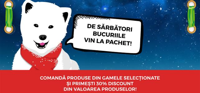"""Regulamentul Promotiei """"Bucuriile vin la Pachet!"""" – 30% Reducere pe Voucher Cadou"""